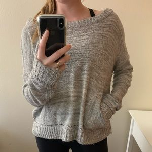 Free People Sweater (with pockets!) Grey/Medium